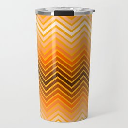 Orange chevron Travel Mug