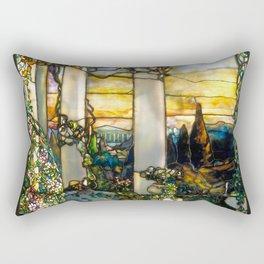 "Louis Comfort Tiffany ""Howell Hinds House Window"" Rectangular Pillow"