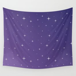 Violet Night Wall Tapestry