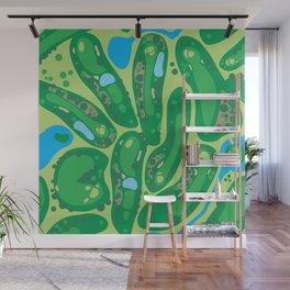 golf course par golf course green Wall Mural
