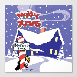 Christmas in North Pole Canvas Print