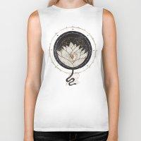 lotus flower Biker Tanks featuring Lotus by Hector Mansilla