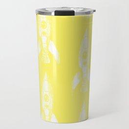 rocket in yellow Travel Mug