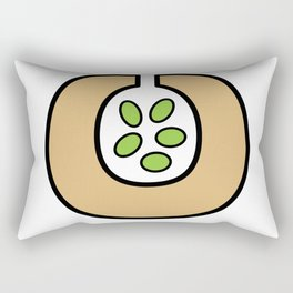 Ceramic Vessel with Beans Rectangular Pillow