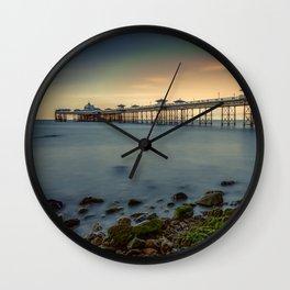 Pier Seascape Wall Clock