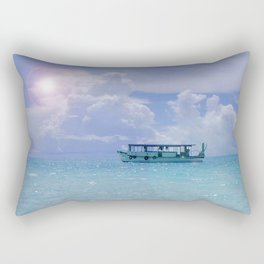 Dhoni aux Maldives Rectangular Pillow