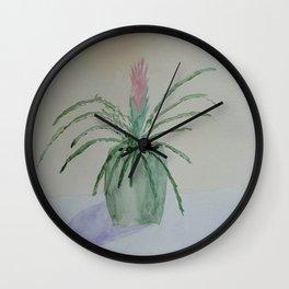 Bromeliad Plant Wall Clock