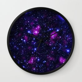 GalAxy Purple Blue Stars Wall Clock