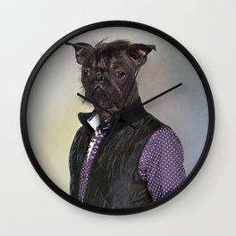 Hairless dog, mix French bulldog / Chinese Crested Dog Wall Clock