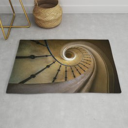 Golden spiral staircase Rug
