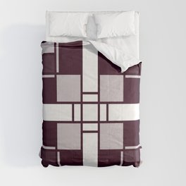 Neoplasticism symmetrical pattern in pinkish gray Comforters