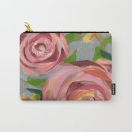 Platinum Rose Carry-All Pouch