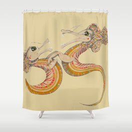Two dragons Shower Curtain