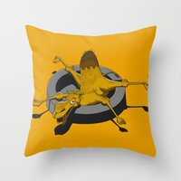 camel Throw Pillows featuring Camel by 2mzdesign