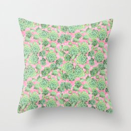 Sempervivum - live forever Throw Pillow