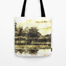 Lily Pond Vintage Tote Bag