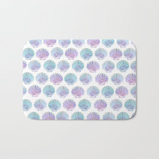 iridescent shells pattern Bath Mat