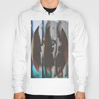 twins Hoodies featuring Twins by Jane Lacey Smith