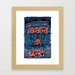 Jakarta Rat City Framed Art Print