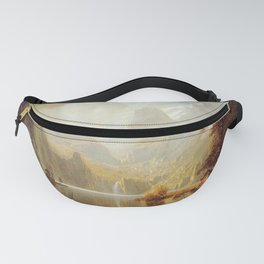 In The Mountains 1867 By Albert Bierstadt   Reproduction Painting Fanny Pack