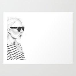 Glasses & Stripes Art Print