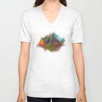 hedgehog V-neck T-shirts featuring hedgehog by jbjart