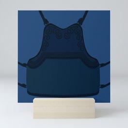 Kendo do and blue gi Mini Art Print