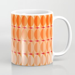 Leaves at sunset - a pattern in orange and red Coffee Mug