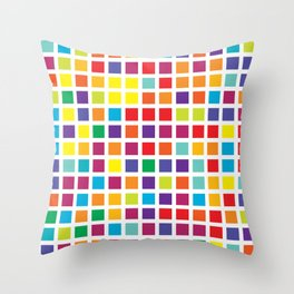 City Blocks - Rainbow #494 Throw Pillow