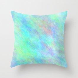 Cadet Blue Color Throw Pillow