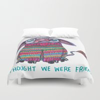 donkey Duvet Covers featuring Donkey by Ruth Wels