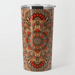 Colorful abstract ethnic floral mandala pattern design Travel Mug