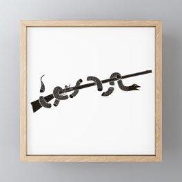Join or Die American Revolution Blak Framed Mini Art Print