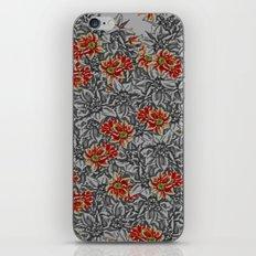 Floral grey iPhone & iPod Skin