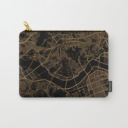 Black and gold Seoul map Carry-All Pouch