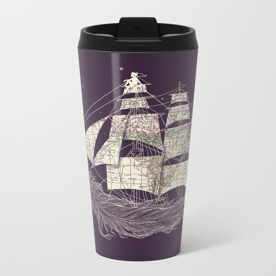 Wherever the wind blows Metal Travel Mug