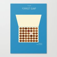 forrest gump Canvas Prints featuring Forrest Gump by Tommaso Valsecchi
