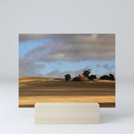 Rural Landscape and Farmhouse in Australia Mini Art Print