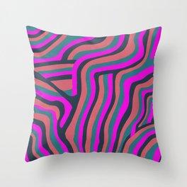 psychedelic zebra Throw Pillow
