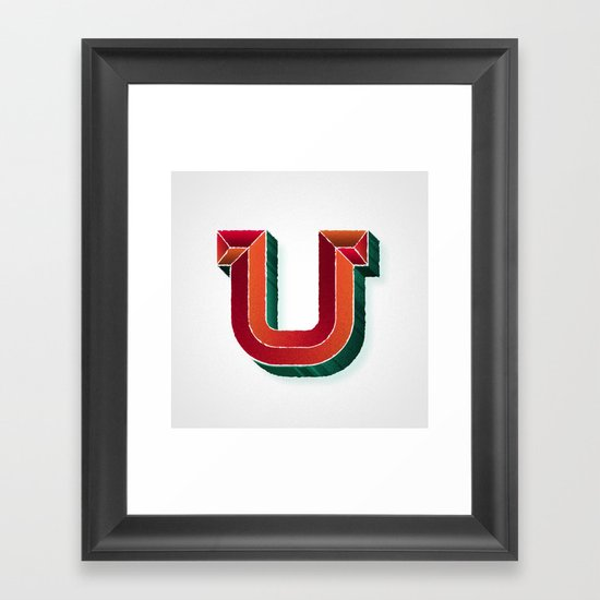 The Letter U Framed Art Print