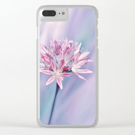 Allium pink 014 Clear iPhone Case