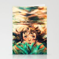 ponyo Stationery Cards featuring The River by Alice X. Zhang