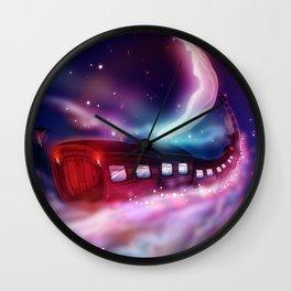 A Trip to the Moon by Locomotive Wall Clock