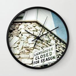 Closed for the Season Wall Clock