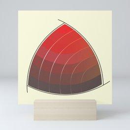 Le Rouge-Orangé (ses diverses nuances combinées avec le noir) Vintage Remake, no text Mini Art Print