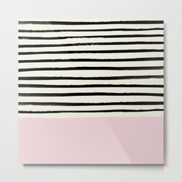 Bubblegum x Stripes Metal Print