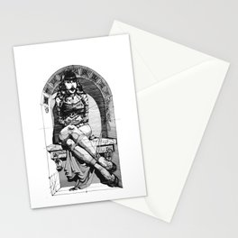 Lady in niche Stationery Cards