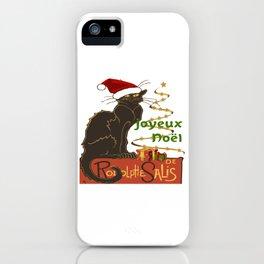 Joyeux Noel Le Chat Noir Christmas Parody iPhone Case