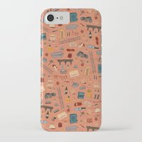 budapest hotel iPhone & iPod Cases featuring Budapest Hotel Plot Pattern by QRS Patterns