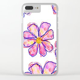 brittmarks/Muster/Blume1 Clear iPhone Case